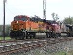 BNSF 7078 and BNSF 680 lead Rock Train